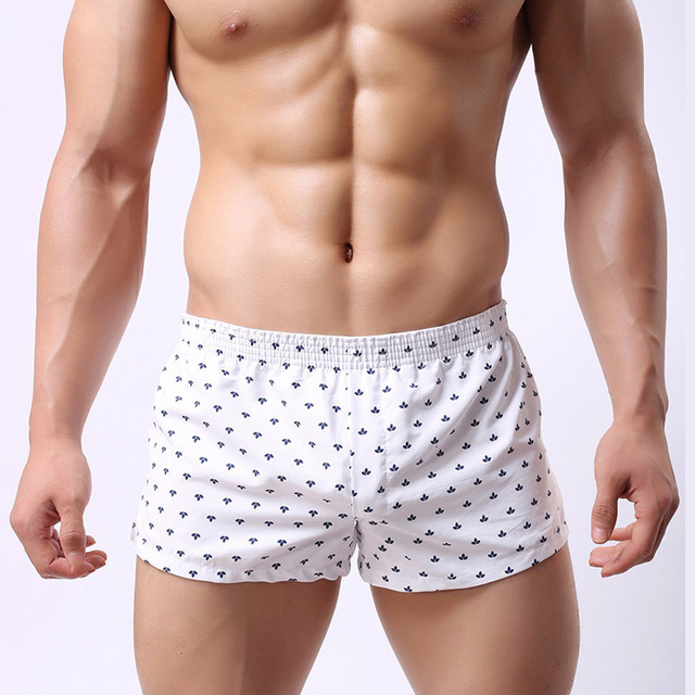Soutong Mens Underwear Boxers Broad Shorts cotton Sexy Man Cueca Printed dot Male panties Home breathable Underpants