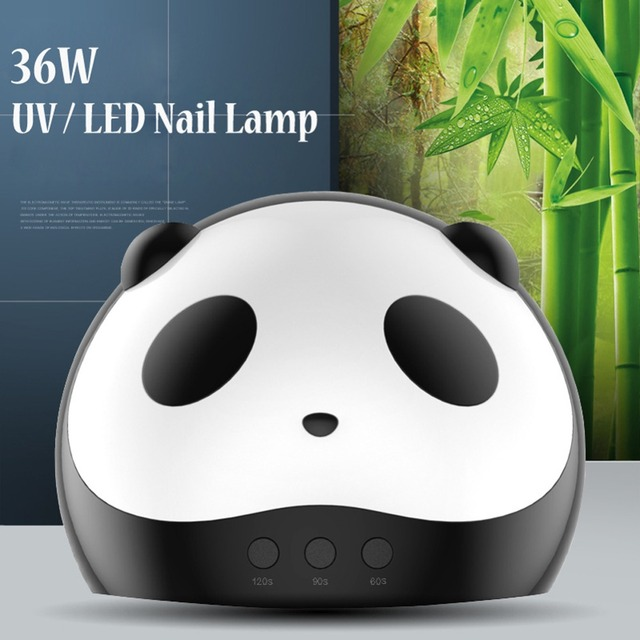Cute Panda Shaper UV Lamp 36W LED Nail Dryer Manicure Lamps Double Light Auto Motion Drier For Curing Gel Polish Nail Art Tools 1