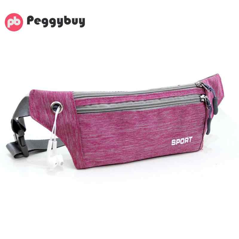 4b66e9fe1a02 Women Men Zipper Casual Nylon Belt Fanny Waist Packs Teen Crossbody  Shoulder Messenger Handbags Unisex Portable