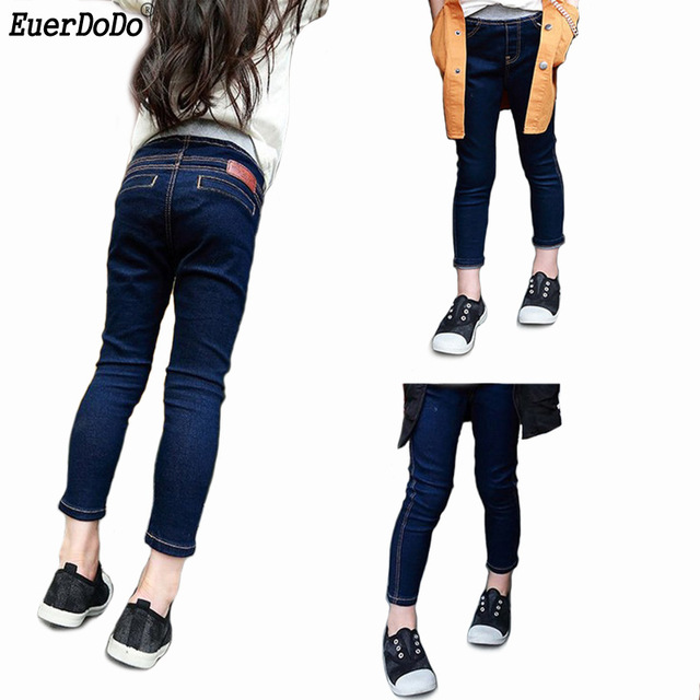 b3fc1d5a826 Girls Slim Jeans Autumn Denim Pants For Children Trausers Teenagers Girl  Skinny Jeans Kids Teenage Fashion School Clothes