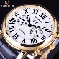 Forsining 2017 Luxury Design Two Fashion Dials Display Roman Number Mens Watches Top Brand Luxury Automatic