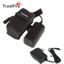 TrustFire 4000mAh 8.4V Waterproof Rechargeable Battery Pack & Battery Charger for LED Headlamp Bicycle Light Bike Lamp