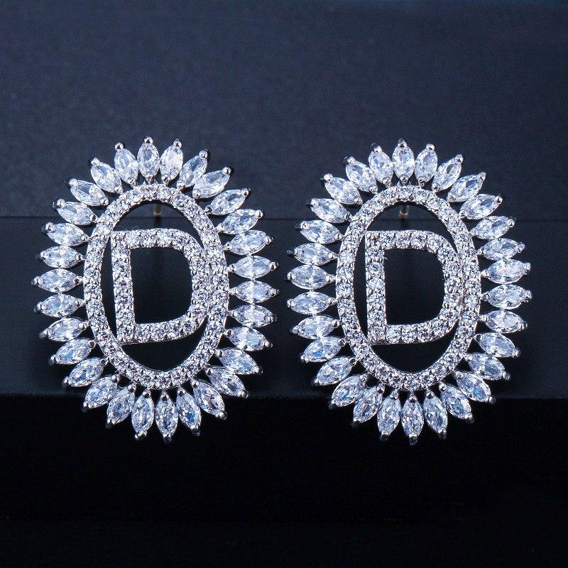 Letter Stud Earrings 11
