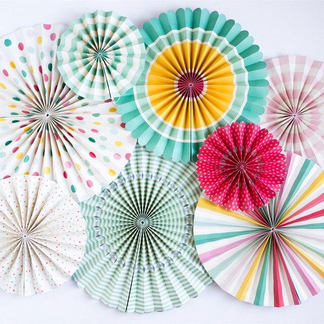 8 Sztukzestaw Drukowania Okrągłe Składane Wentylatora Papieru
