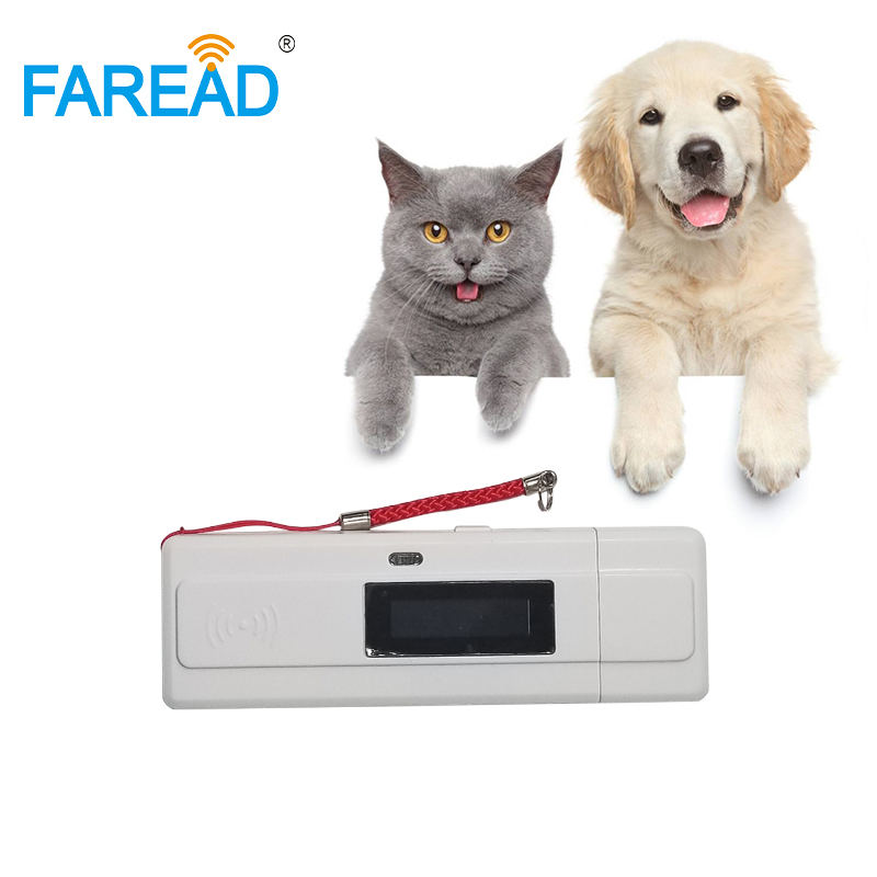 Hot Sale 134.2KHz RFID Pet Microchip Reader USB With LED Display Animal Id Chip Scanner For Dog Vet Easy Carry