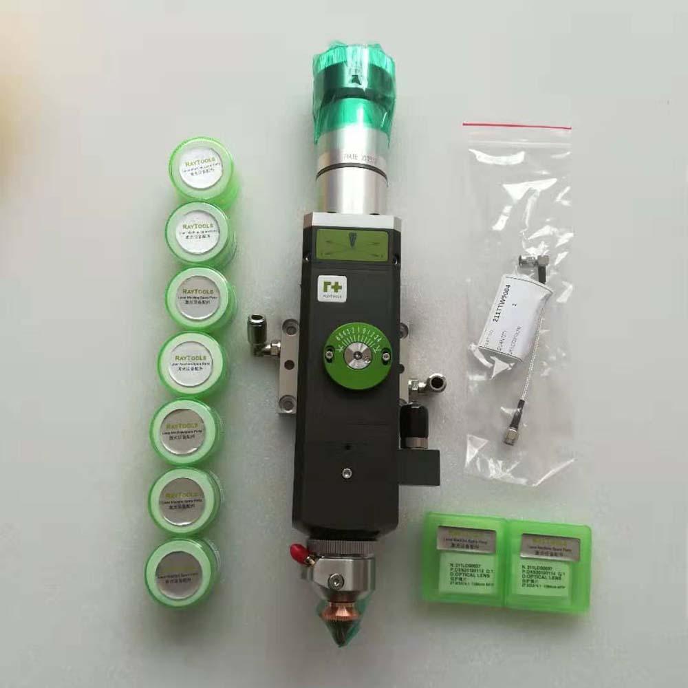 Raytools BT210S FC original 1.5kw QBH fiber laser head manual focusing 2D cutting head and standard accessories full kit