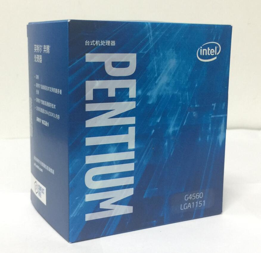 Intel  Pentium  Processor G4560 CPU Boxed with radiator LGA 1151-land FC-LGA 14 nanometers  Dual-Core  CPU wavelets processor