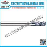 ZCCCT Cutting Tool Solid Carbide End Mills Engraving Bit 8 0 10 0 12 0 Diameter