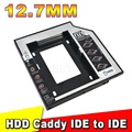"12.7MM 2nd IDE to IDE External HDD Case Second Hard Disk Driver Enclosure for 2.5"" HDD SSD for CD DVD ROM Bay Laptop"