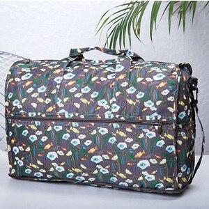 Image 2 - Wysokiej jakości nylonowa składana torba podróżna o dużej pojemności kobiet worek marynarski organizator kostki do pakowania bagażu drukowanie mężczyzn torba weekendowa