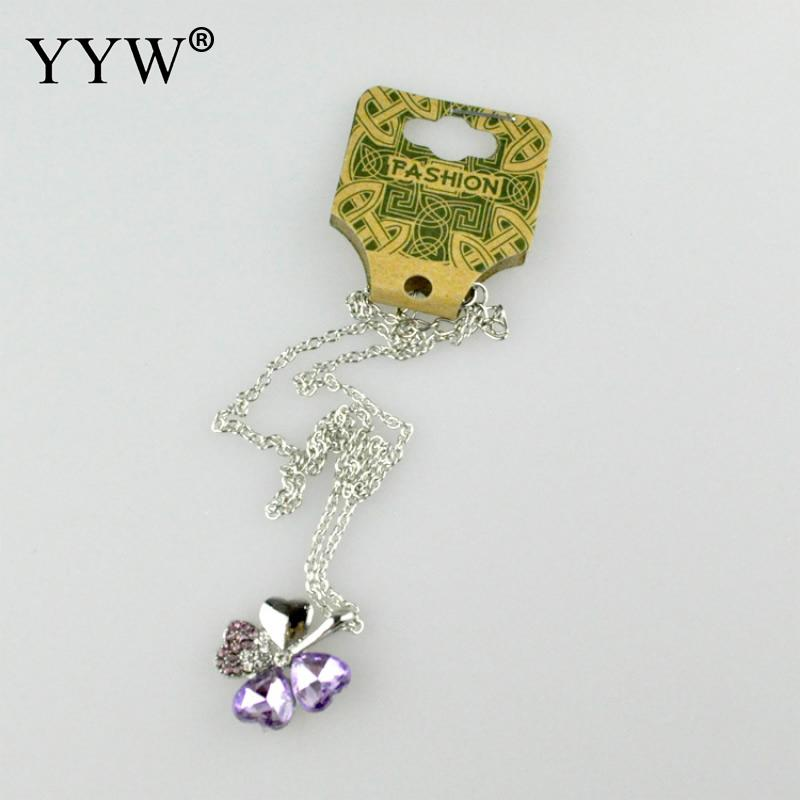 YYW 100pcs High Quality Green Kraft Card Neckalce Jewelry Display Cards Holder Neckalce Display Cards 37*90mm Wholesale 2017