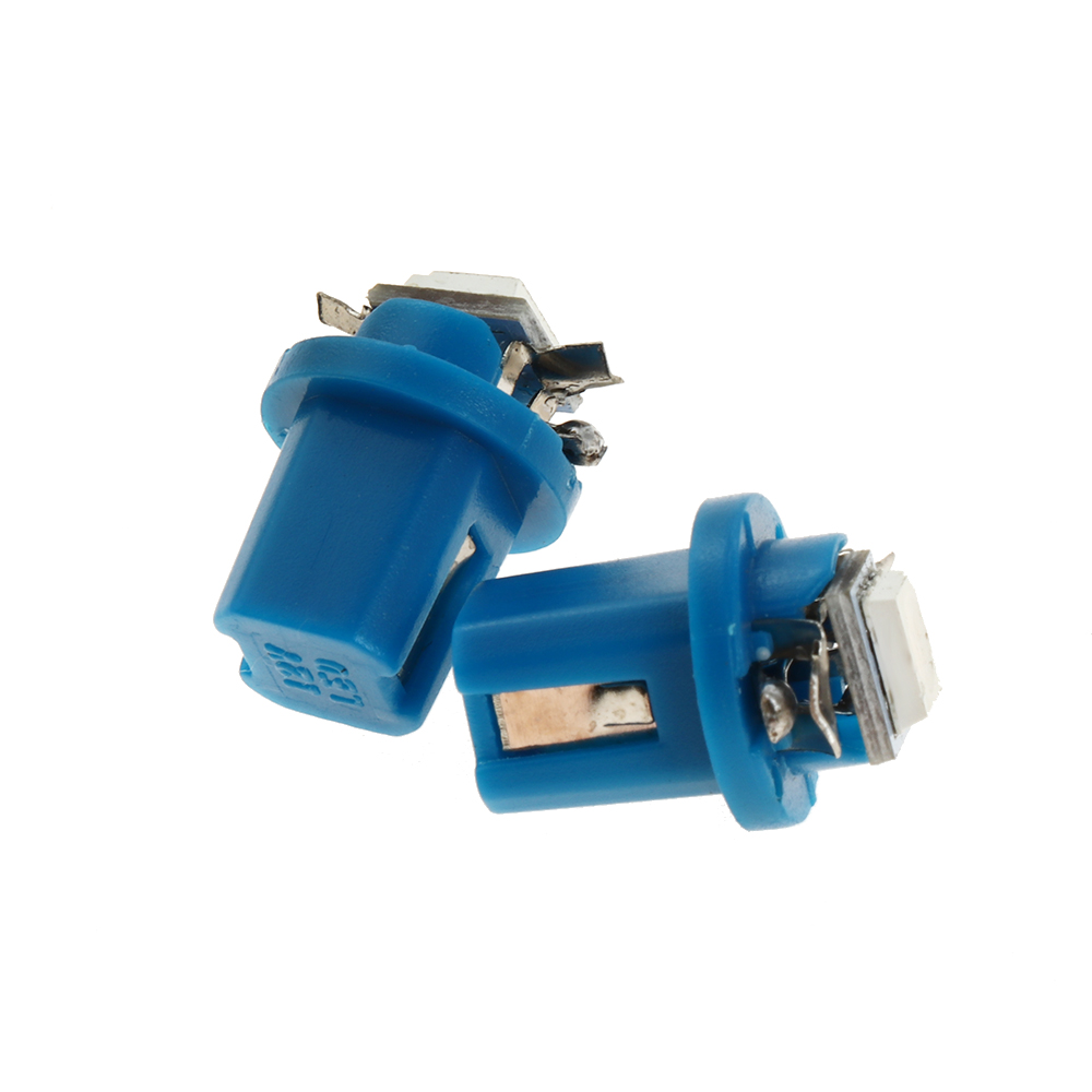 10× T5 B8.5D 5050 1SMD LED Dashboard Dash Gauge Instrument Lights Bulbs Blue Hot