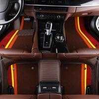 Custom Leather Car Floor Mats For Honda Accord 2003 2007 2017 Honda City Fit Jazz CRV Civic Elysion Vezel Inspire 2019 J202