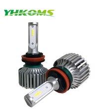 YHKOMS H8 H9 H11 Auto LED Lamp H4 High Low car headlight H7 LED Headlight Kits 80W 8000LM Auto Fog Light Replacement 6000K 12V