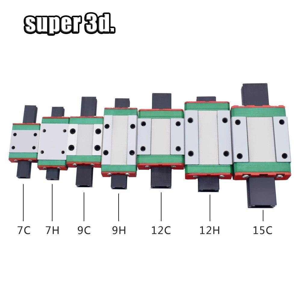 2pcs MGN12C MGN12H Linear Bearing Sliding Block For MGN12C 12mm  Linear Guide 3D Printer CNC XYZ DIY Parts