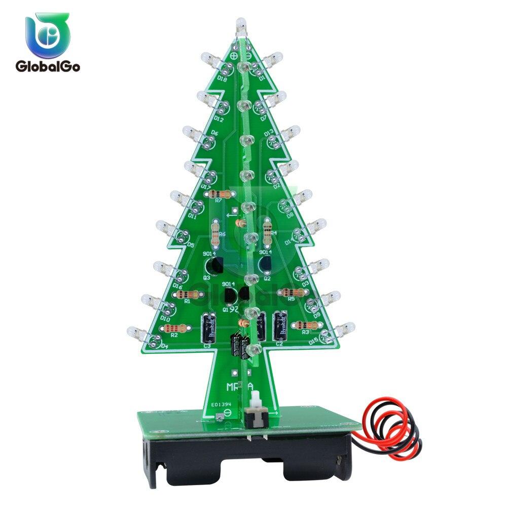 Kit de piezas de árbol de Navidad Flash 7 colores Diy LED 3D árbol de Navidad placa de circuito módulo con luces Led Auto -Interruptor de bloqueo Mandala círculo árboles vinilo calcomanías de pared decoración del hogar Fitness Yoga árbol adhesivo de árbol para pared de la vida Yoga Studio murales de pared AZ044
