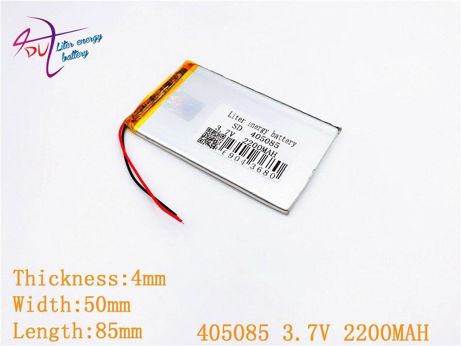 sd Mp3 Radient 1 Stücke Lautsprecher Hohe Belastbarkeit 405085 3,7 V 2200 Mah Polymer Lithium-ion/li-ion Batterie Für Spielzeug Gps Power Bank Mp4 Handy