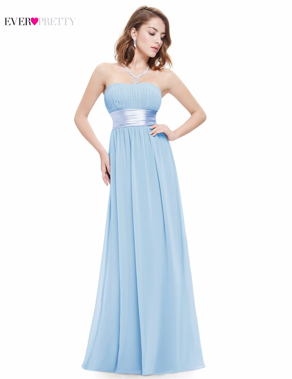 Ever-Pretty New Women Sexy long Bridesmaid Dresses Sleeveless Sweetheart  A-Line Chiffon Backless 447359d653f1
