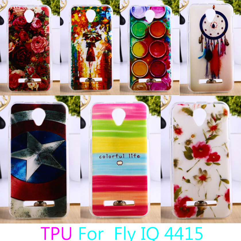 TAOYUNXI Soft TPU Mobile Phone Case For Fly IQ4415 quad Era Style 3 IQ 4415 Colorful Back Cover Anti-knock Cases Durable Shell