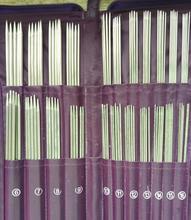 Dikiş Araçları 5 Set Yuvarlak Iğne örgü iğnesi Tığ Hooks Örme Çift Sivri Aracı İğne Örme 61155