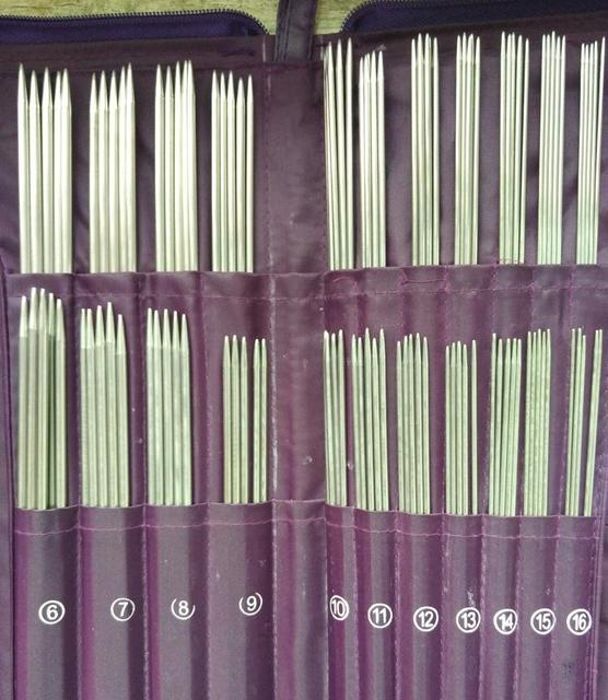 Sewing Tools  A Set of 5 Circular Needle Knitting Needle Crochet Hooks Knitting Double Pointed  Tool  Needlework Knitted 61155