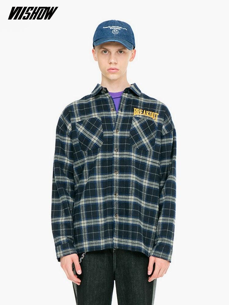 VIISHOW Streetwear Camicia Degli Uomini di Marca degli uomini di Plaid Camisa Masculina 2019 Nuovo Casual Camicette Manica Lunga Camisas Hombre CC2016183-in Camicie casual da Abbigliamento da uomo su  Gruppo 1