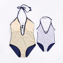 Mother Daughter Matching Lace One Piece Swimsuit