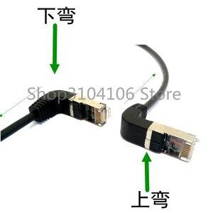 Image 2 - 0.3 M 1.5 M Down Schuine 90 Graden 8P8C FTP STP UTP Cat 5e RJ45 Man vrouw Lan Ethernet Netwerk Verlengkabel (met schroef)