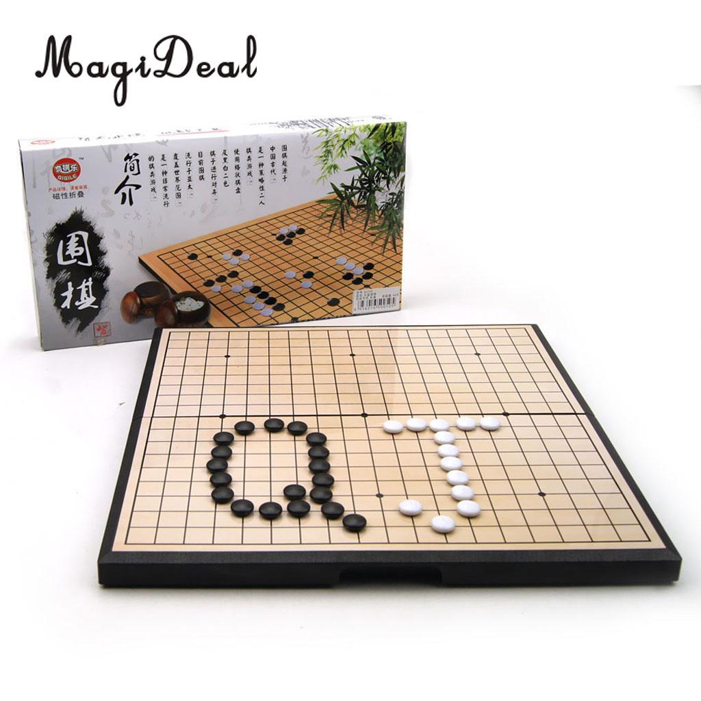 Ensemble de jeu magnétique Portable avec ensemble de pierres en plastique magnétique convexe unique