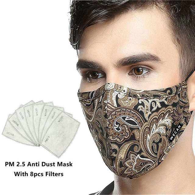 Korean cotton anti dust mouth face mask kpop unisex maska with carbon filter medical kn95 anti pm2.5 black mouth-muffle mask