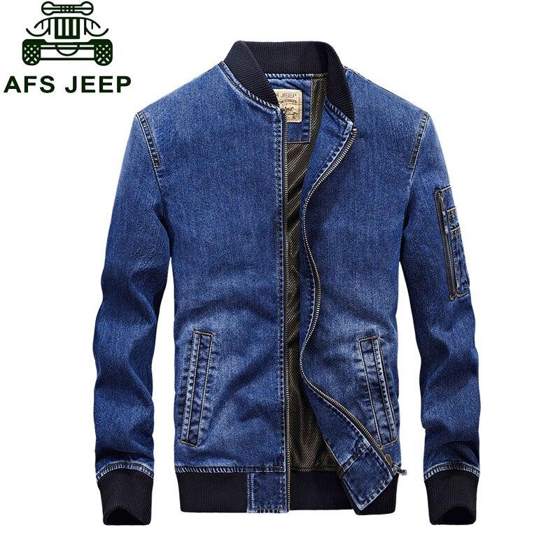 9a9b4cf542 2017 nueva llegada marca de ropa hombres chaqueta M ~ 4XL abrigo Slim Fit  Casual Denim chaqueta abrigos ropa de manga larga hombre más tamaño