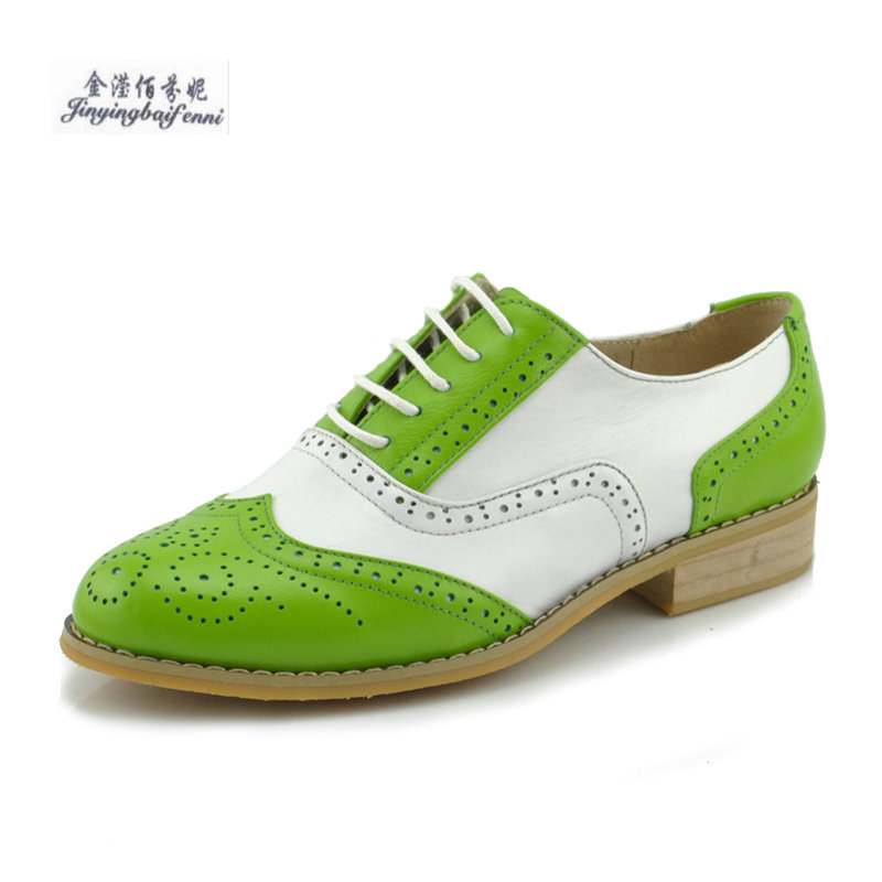 Handmade Custom Color Brock Women s Shoes British Style Retro Carved Oxford  Lovers Shoes Lace up Leisure Flat Shoes Big Size 45-in Women s Flats from  Shoes ... 28795b877e4b