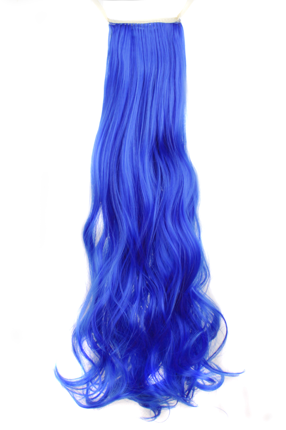 Synthetic Female Dark Blue Curly Ponytail Hair Extensions In