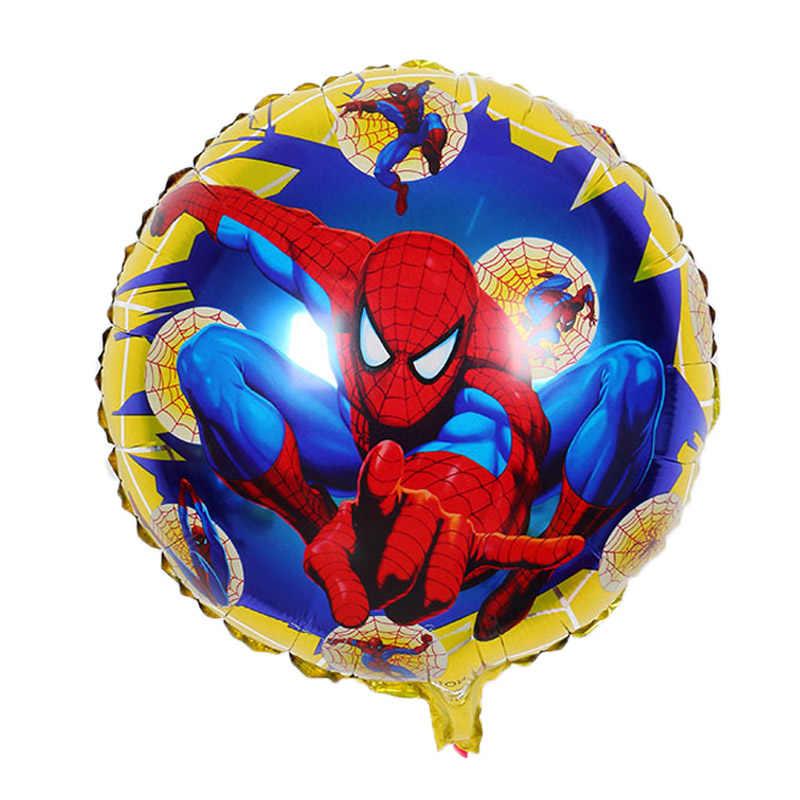 1 pc 7 style 18 cal Super bohater balony Avengers Spiderman Batman balon foliowy dla dzieci Birthday Party Supplies zabawki dla dzieci