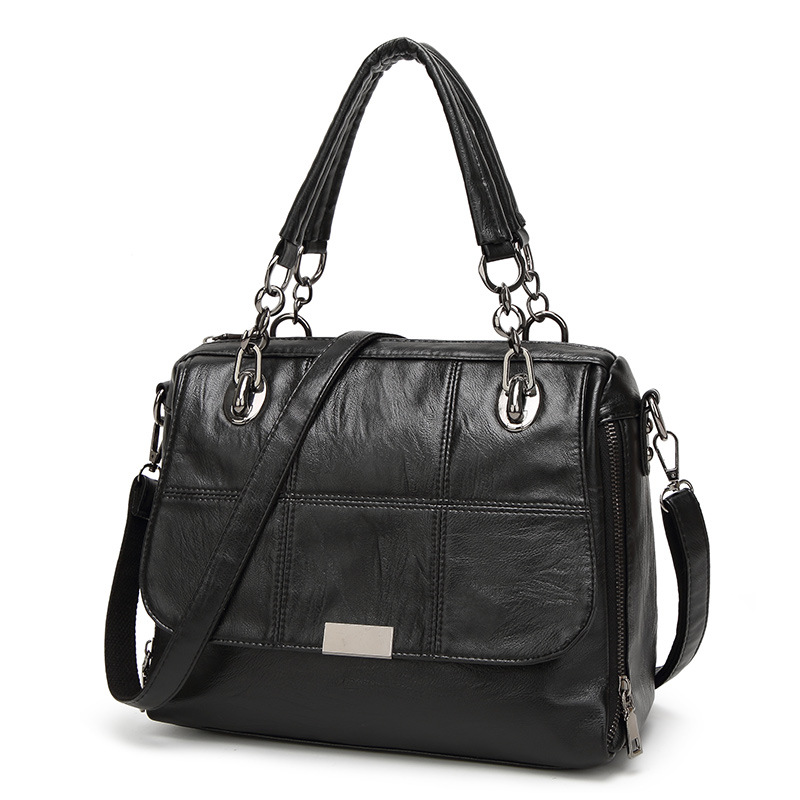 DIMINUTIVE 2018 Time Limit Women Designer Handbag Business Shoulder Bag Chain Strap Tote Casual Pillow Bag Sewing Black Satchels