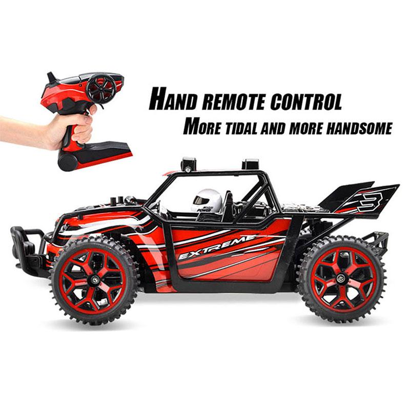 ФОТО Top quality 333-GS04B 1:18 2.4Ghz 4CH Radio Remote Control Rechargeable Rock Crawler RC Driving Car Model EU Plug as best gift
