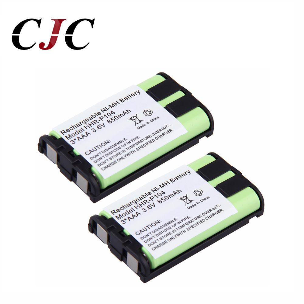 Quality In Useful 2pcs 3.6v 850mah Ni-mh Replacement Battery For Panasonic Hhr-p104 Hhr-p104a/1b Rechargeable Cordless Home Phone Battery Excellent