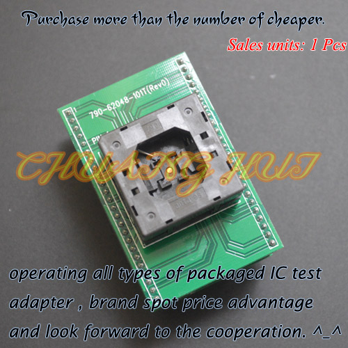 IC TEST Detect QFN48 toDIP48 for xeltek Programmer 790-62048-101T QFN48/D48 Adapter ltc2203cuk pbf ic ацп 16 битный 25msps 48 qfn ltc2203cuk 2203 ltc2203 ltc2203c ltc2203cu 2203c