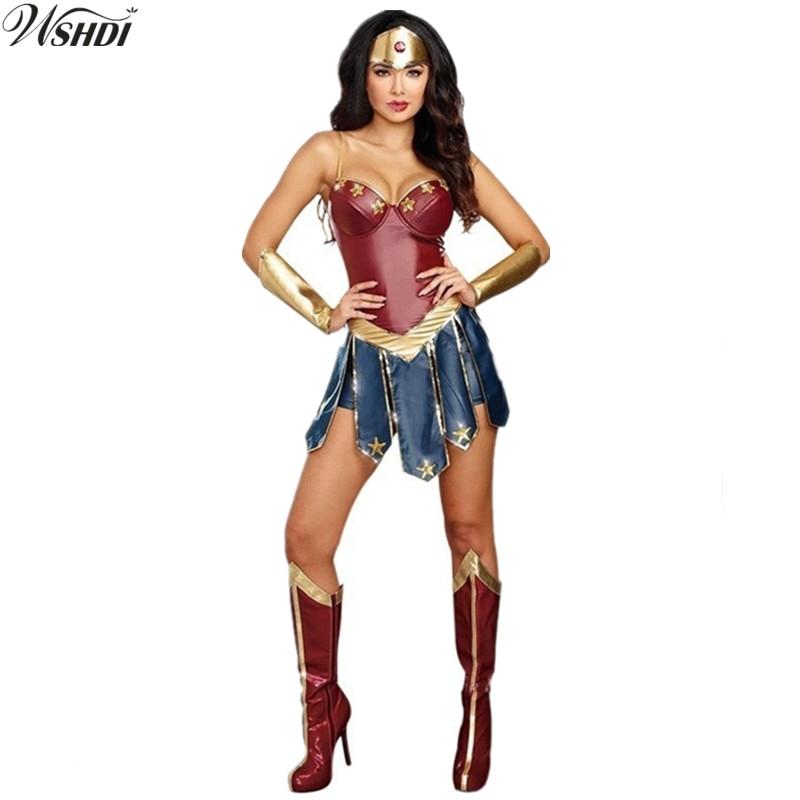 Wonder Woman Costume Halloween Costume For Adult Custom Made Justice
