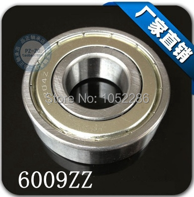 5pcs/lot  6009ZZ  6009  Shielded deep groove radial ball bearing  slide bearing 45x75x16 mm 5pcs lot f6002zz f6002 zz 15x32x9mm metal shielded flange deep groove ball bearing