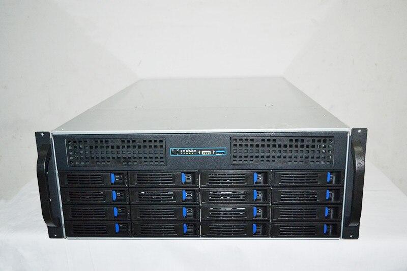 4U 16 жесткий диск с горячей вилкой 4U серверная стойка для хранения промышленного управления типа шасси