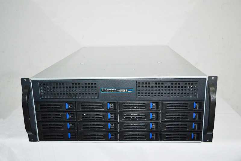 4U 16 hard disk hot plug 4U server storage industrial control rack type chassis 5208 73p8005 73p8017 300g 10k fc ds4300 server hard disk one year warranty