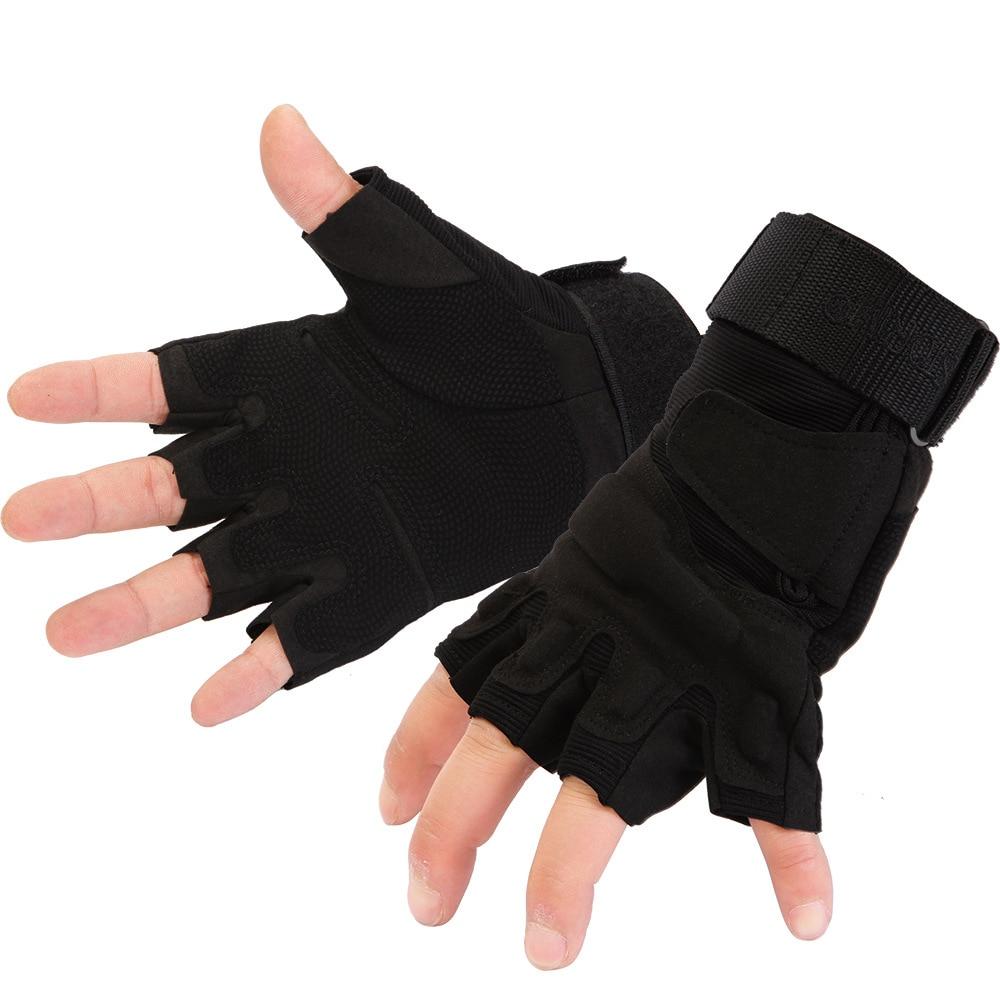 Fingerless gloves climbing - Men Half Finger Military Tactical Gloves Rock Climbing Gloves Outdoor Sports Downhill Gloves Antiskid Climbing Glove L Xdqj 22