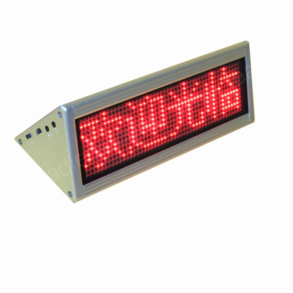 12x48 Dots Red Double Side Desktop Led Moving Sign Desk Board
