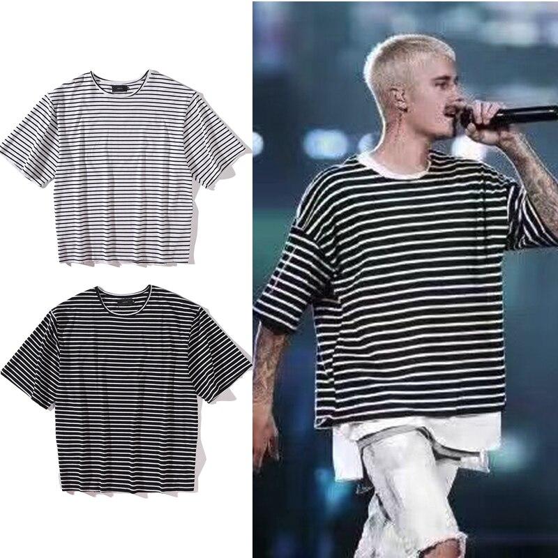 2017 high quality street wear fashion striped tshirts mens for High quality mens shirts