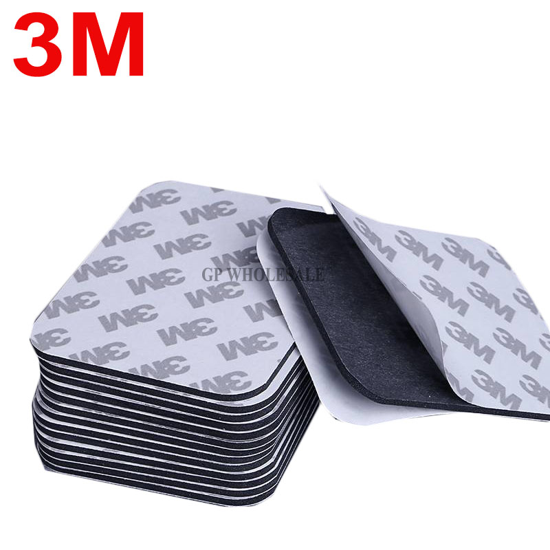20pcs (1mm thick) 61*78mm Universal Using 3M Strong Adhesive Double Sticky Foam Sticker Pads for Office Home Car Daily Using