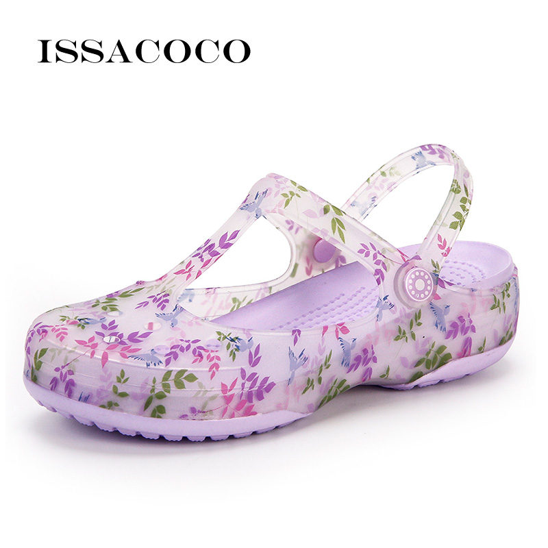 ISSACOCO Shoes Woman Slippers Sandals Women Jelly Shoes Summer Shoes Wedges Shoes For Women Terlik Pantufa Sandalias Mujer 2018