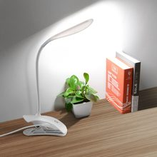 Flexible Touch Dimmer Table Lamp With Clip Bedside Reading Book Light USB Children Study Lamp Liseuse Lampara Lectura LED Light(China)