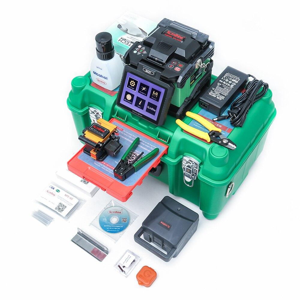 Máquina de Emenda Óptica FTTH Komshine GX37 Fabricante Splicer Da Fusão como Splicer Fujikura 70 s, INNO Fibra De Soldador