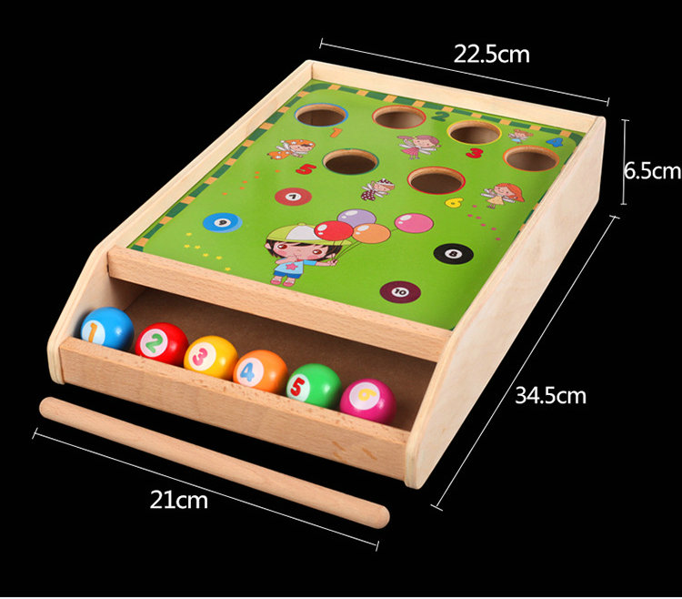 Factory direct wholesale billiard game billiards color matching cognitive parent child game Desktop Classic toys Kids wood toys in Toy Balls from Toys Hobbies